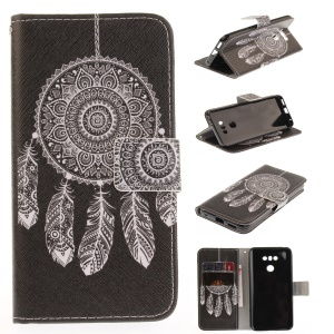 Pattern Printing Leather Card Holder Case for LG G6 - Dream Catcher