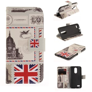 Pattern Printing Wallet Leather Stand Case for LG K4 (2017) - UK Flag