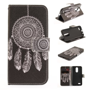 Pattern Printing PU Leather Stand Case for LG K4 (2017) - Dream Catcher