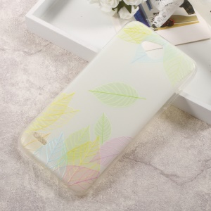 Embossing Soft TPU Back Shell Cover for LG X Power 2 - Colored Leaves