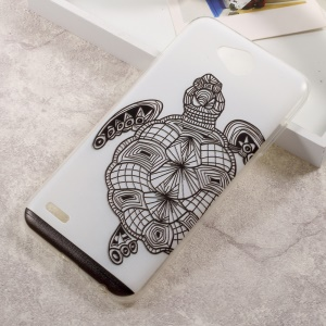 Embossing Patterned TPU Back Case Cover for LG X Power 2 - Turtle
