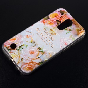 Embossing TPU Mobile Casing Cover for LG K10 (2017) US Version - You Are Beautiful