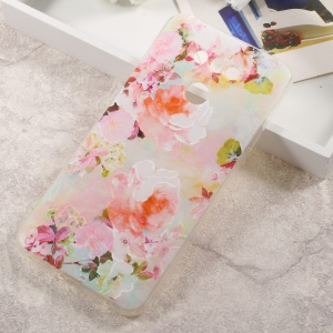 Embossing TPU Mobile Casing Cover for LG G6 - Blooming Flowers