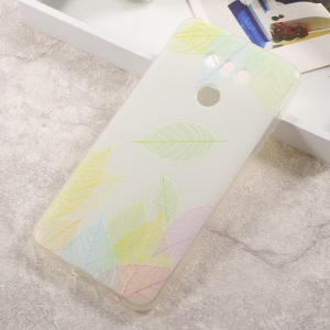 Patterned TPU Embossed Cell Phone Case for LG G6 - Colored Leaves