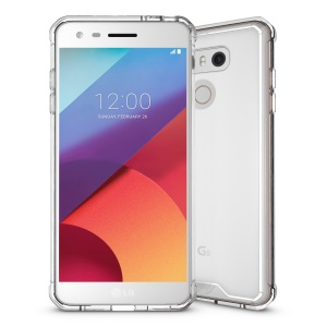 TPU + Transparent Acrylic Protective Phone Case for LG G6 - Transparent