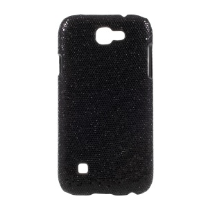 Leather Coated PC Protection Phone Case for LG K3 (2017) - Glitter Sequins / Black