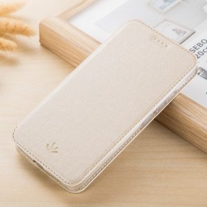 VILI DMX Leather Card Holder Phone Cover with Stand for LG Stylus 3 - Beige