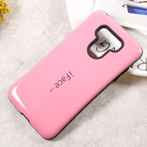 IFACE MALL PC + TPU Protection Mobile Phone Shell Non-slip Grains on Two Sides for LG G6 - Pink