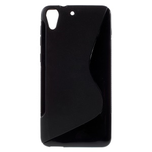 S Shape TPU Case for HTC Desire 728 - Black