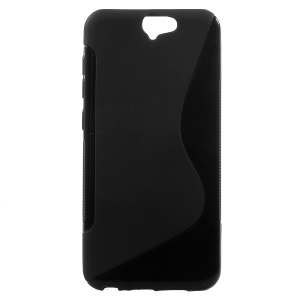 S Shape Soft TPU Gel Case Cover for HTC One A9 - Black