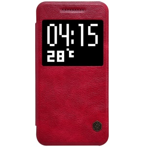 NILLKIN Qin Series Smart View Leather Phone Case for HTC One A9 - Red