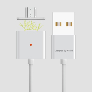 WSKEN X-cable Magnetic Micro USB Cable for Samsung HTC (Double Metal) - Silver