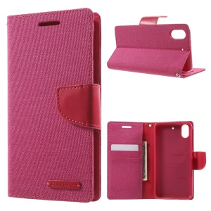 MERCURY GOOSPERY Canvas Leather Stand Case for HTC Desire 626 / 626s - Rose