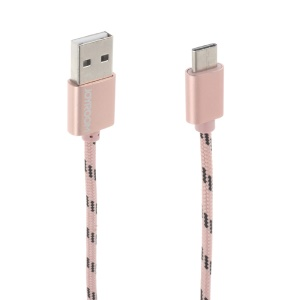 JOYROOM JR-S317 USB Type-C Sync Charge Cable for LG G5/Xiaomi Mi 5 Etc - Rose Gold