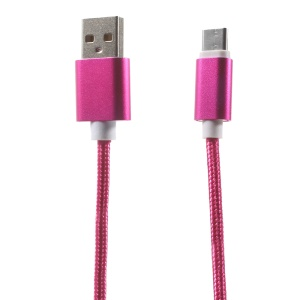 1.5M Woven Pattern USB Type-C to USB 2.0 Data Sync Cable for OnePlus 2 / Xiaomi Mi 5 - Rose
