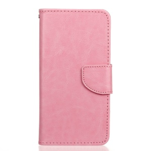 PU Leather Wallet Stand Case for HTC Desire 530/630 - Pink