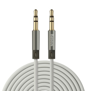 BASEUS 1.2m 3.5mm Male to Male Aux Audio Cable - Grey