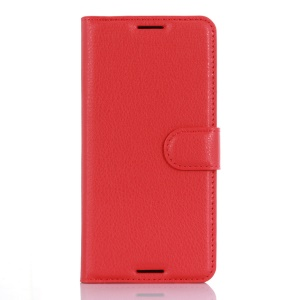 Litchi Grain Leather Wallet Shell for HTC Desire 530/630 - Red