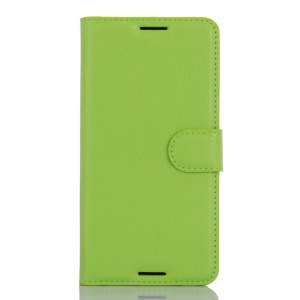 Litchi Grain Leather Wallet Phone Case for HTC Desire 530/630 - Green