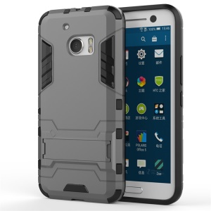 PC TPU Hybrid Protective Cover for HTC 10/10 Lifestyle with Kickstand - Grey