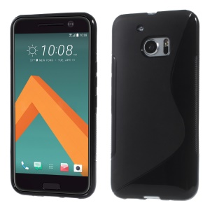 S Shape Soft TPU Case Cover for HTC 10 / 10 Lifestyle - Black