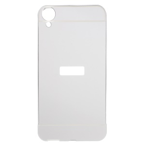 Metal Frame Acrylic Back Phone Case for HTC Desire 820 / Dual SIM - Silver