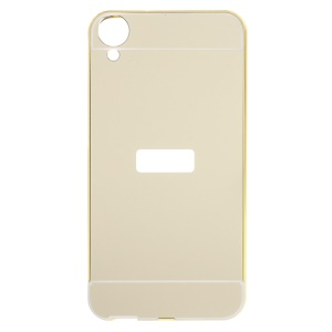 Sliding Metal Frame Acrylic Back Case for HTC Desire 820 / Dual SIM - Champagne Gold