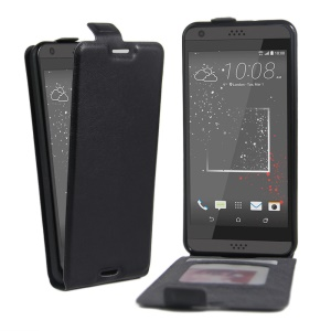 Crazy Horse Leather Vertical Case for HTC Desire 530/630 - Black