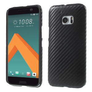 Carbon Fiber Grain Leather Skin Plastic Case for HTC 10/10 Lifestyle