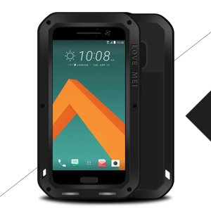LOVE MEI for HTC 10/10 Lifestyle Shockproof Dropproof Dustproof Protection Case - Black