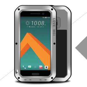 LOVE MEI Shockproof Dropproof Dustproof Heavy Duty Case for HTC 10/10 Lifestyle - Silver