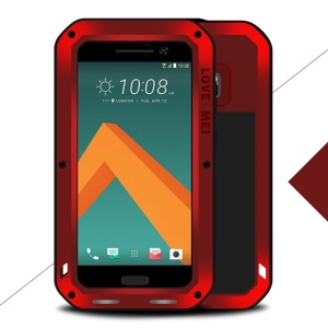 LOVE MEI for HTC 10/10 Lifestyle Shockproof Dropproof Dustproof Heavy Duty Cover - Red