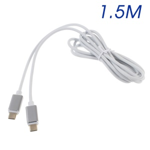 1.5m High Speed Gold Plated USB Type C to Type C Data Sync Charging Cable for New MacBook/Nokia N1 - White