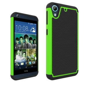 PC Silicone Back Cover for HTC Desire 626 Football Grain - Green
