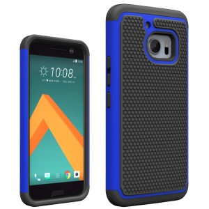 For HTC 10 Lifestyle Football Grain PC + Silicone Combo Case - Blue