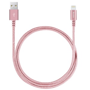 BENKS MFI Certified Sturdy Series 8Pin Lightning Charge Sync Cable for iPhone iPad iPod - Rose Gold