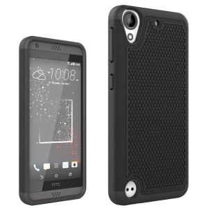 Football Grain PC + Silicone Combo Case for HTC Desire 530/630 - Black