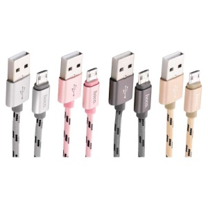 HOCO U6 Reversible Micro USB Charging Cable for Samsung Sony - Silver
