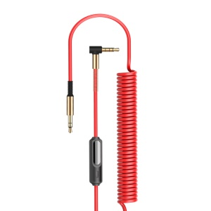 JOYROOM S602 3.5mm Aux Ure Stereo Audio Spring Cable 1.5M - Red