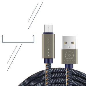 WUW-X01 1M Micro USB Charger Data Sync Cable for Samsung HTC LG Huawei Xiaomi etc - Blue