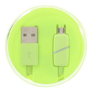 Smart LED Charge Sync Micro USB Cable for Android Samsung Sony Huawei - Fluorescent Green