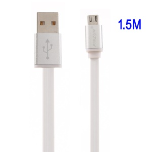 PINZUN Aluminum Micro USB Data Charging Cable 1.5M for Samsung Sony - Silver