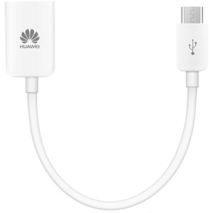 HUAWEI Micro USB Male to USB Female OTG Cable for Huawei Samsung - White