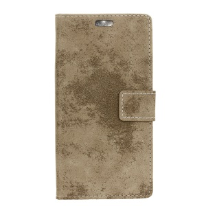 Vintage Leather Wallet Stand Phone Shell for HTC One A9s - Khaki