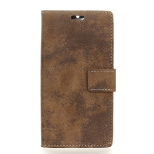 Retro Wallet Leather Stand Phone Cover  for HTC One A9s - Brown