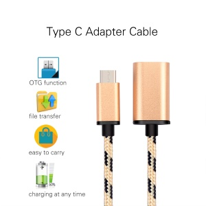 Type-c to USB 3.0 OTG Data Sync Charging Cable for Huawei P9 / LG G5