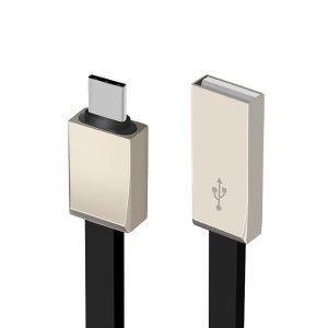 DUX DUCIS K300 1m Zinc Alloy USB Type-c Data Sync Charging Cable - Black