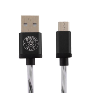 HAT PRINCE 2A Micro USB Data Sync Charging Cable for Samsung HTC LG - Black