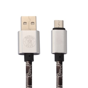 HAT PRINCE 2A Snake Skin Micro USB Cable for Andriod Samsung HTC LG etc - Grey