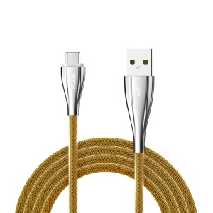 ROCK 100cm Metal Type-C Data Charge Cable for Huawei P9/Galaxy C9 Pro etc - Gold